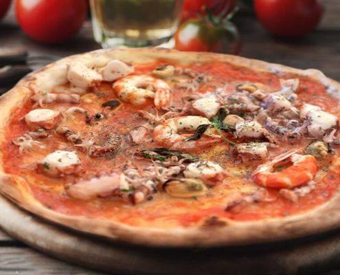 Pizza ai frutti di mare Panoramik