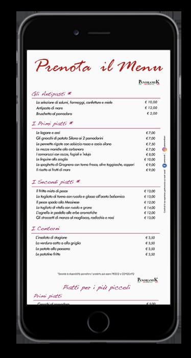 Prenotazione tramite l'app