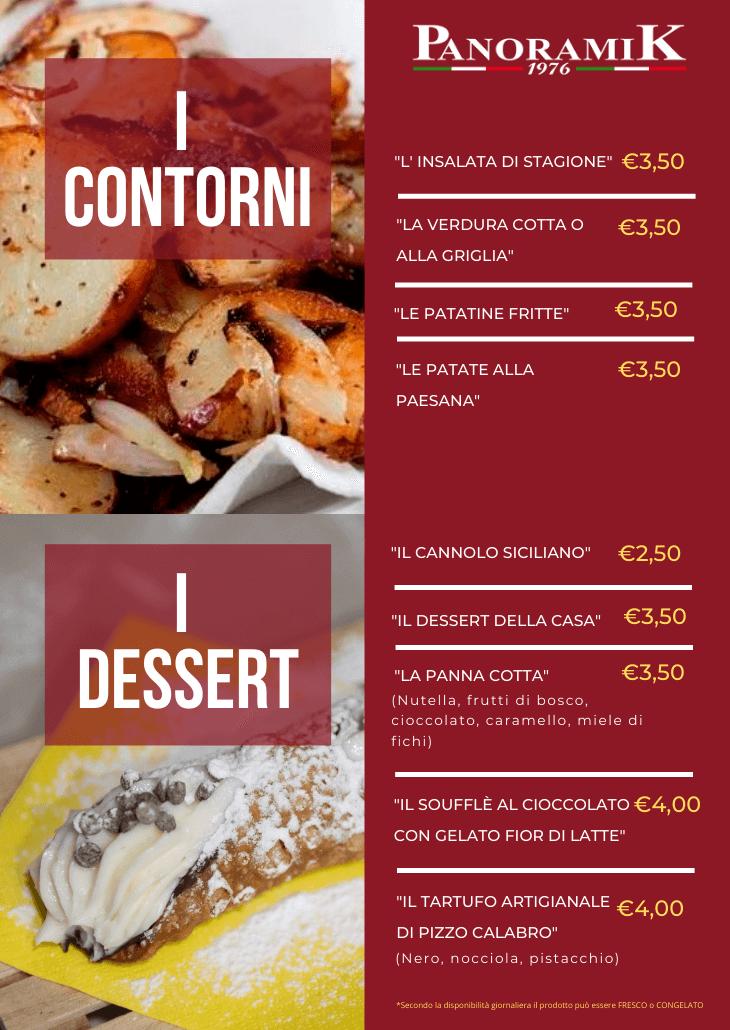 Contorni e dessert