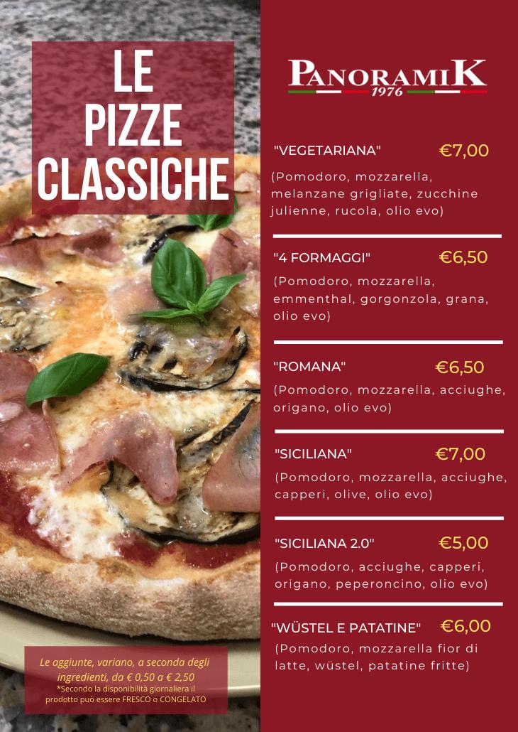 Le Pizze Classiche