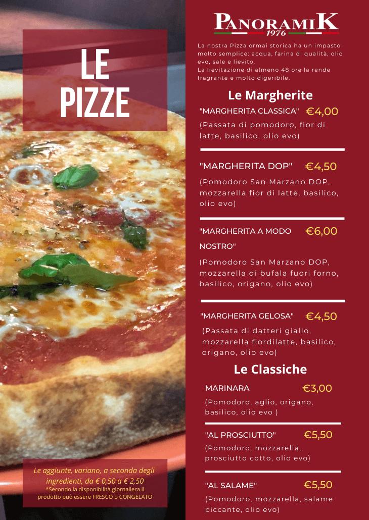 Menu Pizze