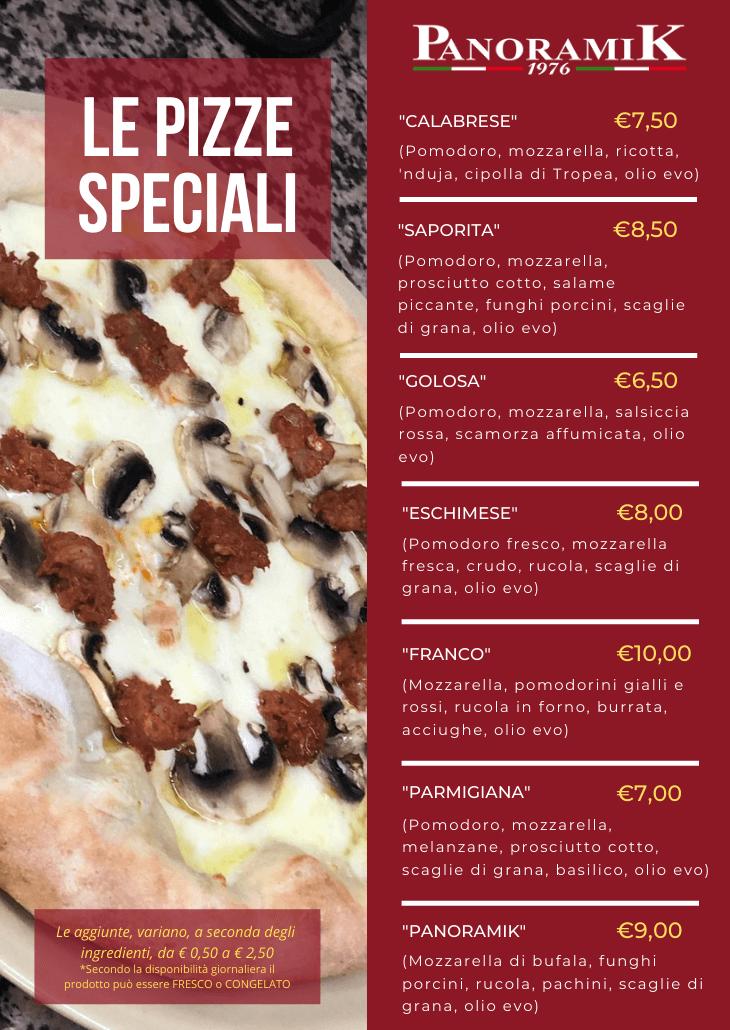 Le Pizze speciali